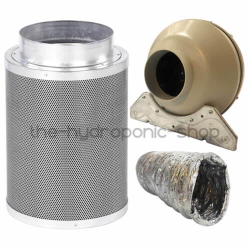 Rhino Hobby Carbon Filter Kit RVK Fan With Aluminium Ducting Hydroponics