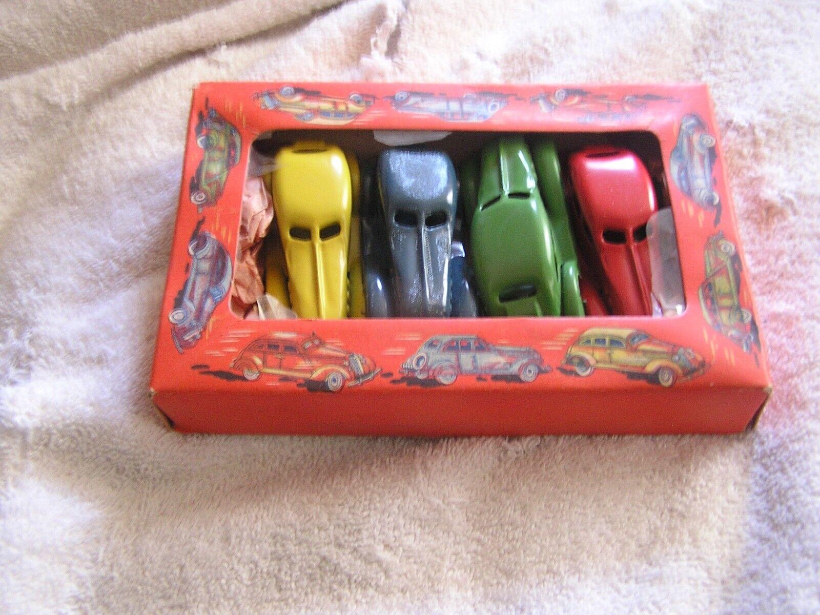 Retro Lote de 4 coches de juguete Japón Art Deco