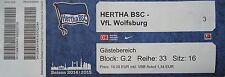 TICKET 2014/15 Hertha BSC Berlin - VfL Wolfsburg