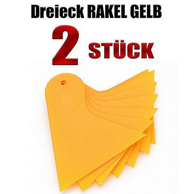 DREIECK RAKEL GELB  2 - STÜCK - Folierung - Wandtattoo rakel