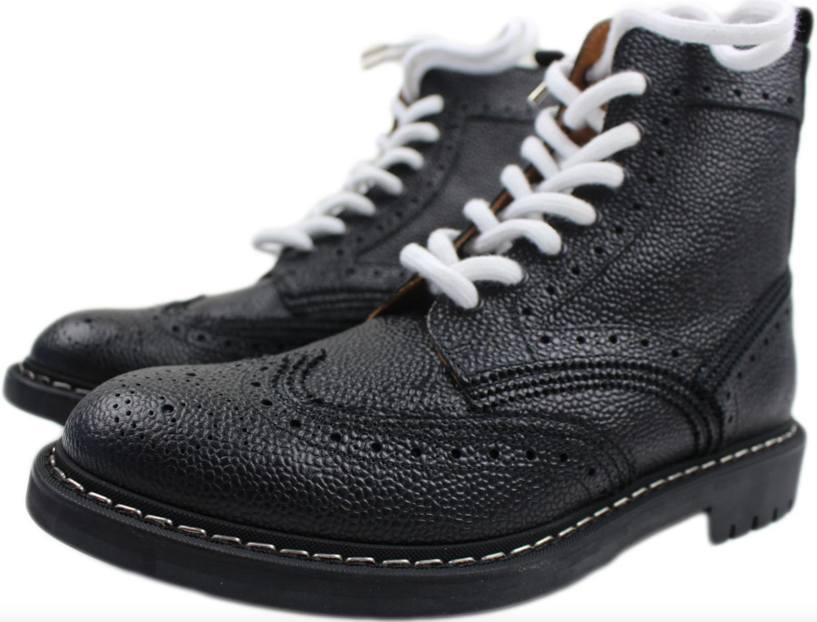 GIVENCHY PARIS herren schwarz COMMANDO PEBBLE RUNWAY Stiefel Größe 7D US  40
