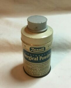 Vintage-Medicine-Advertising-Tin-REXALL-SURGICAL-POWDER-Tin-Can-EMPTY