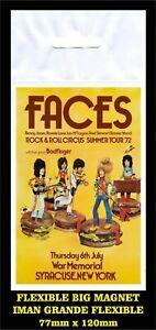 Faces-Syracuse-Summer-Tour-1972-Rod-Stewart-FLEXIBLE-BIG-MAGNET-IMAN-GRANDE