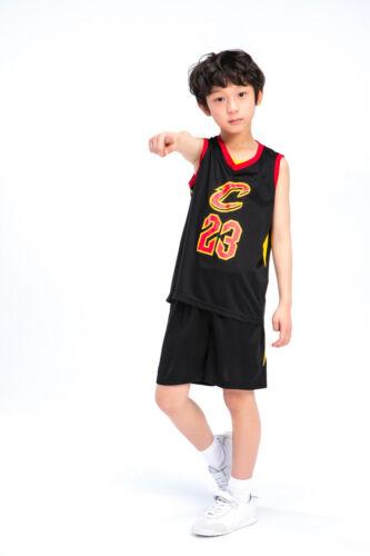 UK Kids Baby Boys Girls #23 Basketball Jerseys Short Suits Kits Sportswear Sets