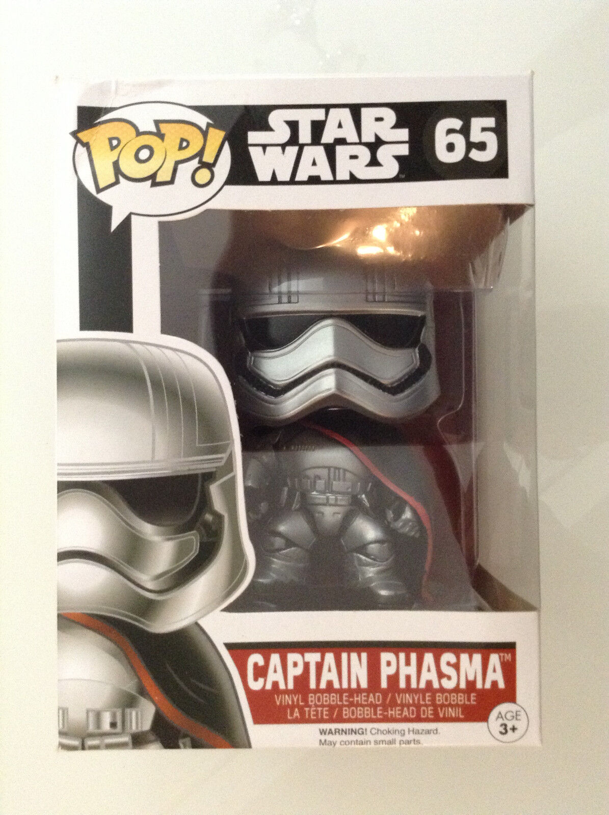 POP POP POP  STAR WARS THE FORCE AWAKENS CAPTAIN PHASMA VINYL BOBBLE-HEAD No 65 BY FUNKO 502af4