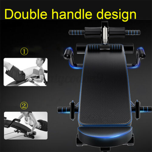 Foldable Decline Sit Up Bench Crunch Sport Board Fitness Home Gym Exercise