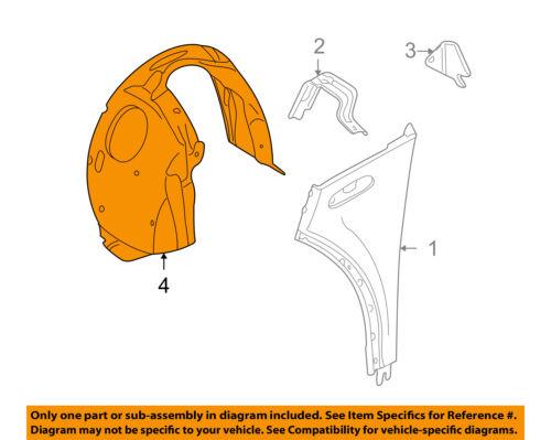 MINI OEM 02-07 Cooper-Front Fender Liner Splash Shield Right 51711486197