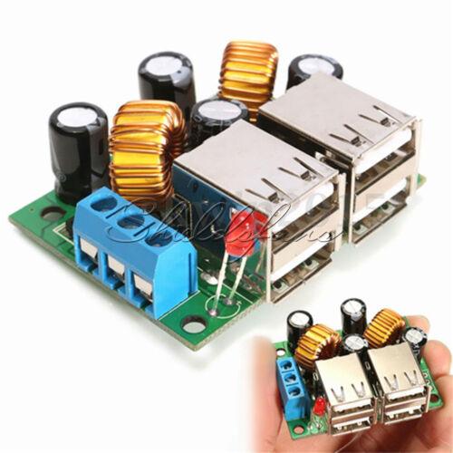 DC 12V 24V 40V to 5V 5A Converter 4-USB Port Step-down Power Supply Buck Module