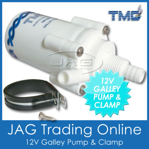 12V TMC 100 GPH PUMP ONLY /& CLAMP-Electric Galley Water Pump for Caravan//RV//Boat