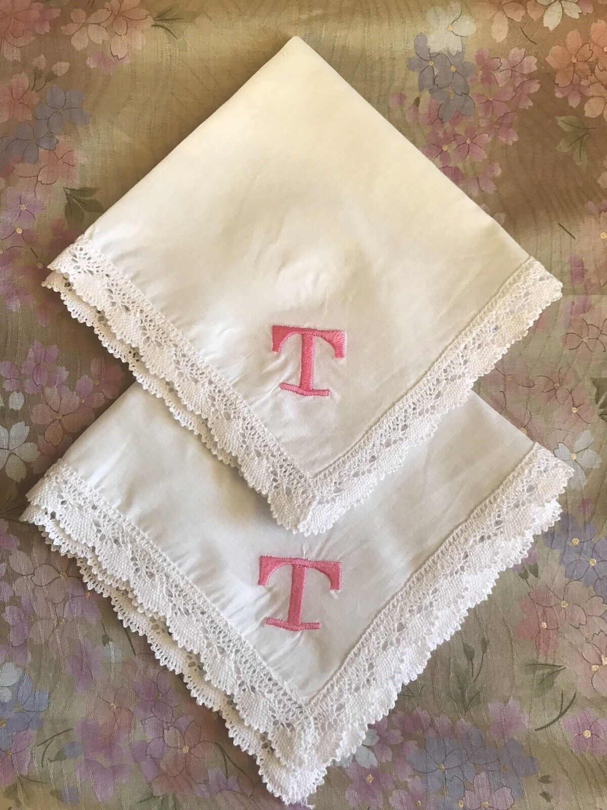 Beautiful Personalized Embroidered Woman's Handkerchief - Present Idea