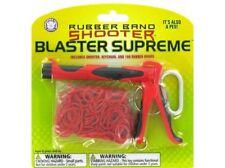 ELASTIC RUBBER BAND GUN SHOOTER KEYRING PEN + 100 BANDS NOVELTY GIFT KEY RING