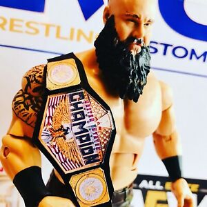 WWE-WWF-imitacion-cuero-nuevos-Estados-Unidos-titulo-para-Hasbro-Mattel-Jakks-figuras