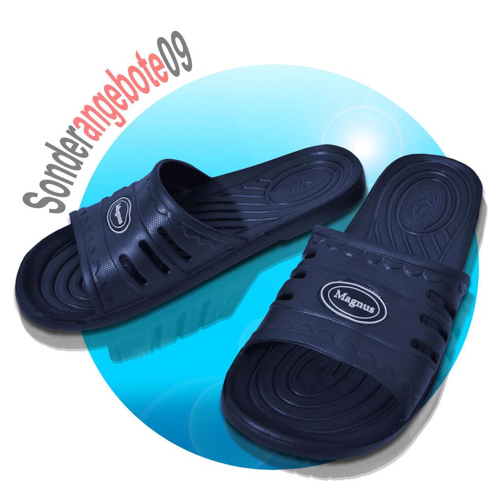 Eva Tongs Magnus Flops Taille 40 41 42 43 44 45 Plage Chaussures Bleu Navy Doux Et LéGer