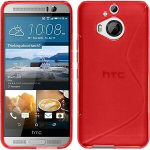 Silicone-Case-for-HTC-One-M9-Plus-S-Style-red-protective-foils