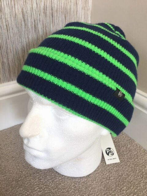 PS PAUL SMITH NEON STRIPE 100% LAMBSWOOL BEANIE HAT (MATCHING SCARF  AVAILABLE) 2e0756ae281