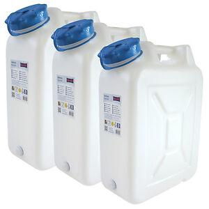3x-Weithals-Kanister-22-Liter-PRO-3er-Set-Lebensmittelkanister-Wasserkanister-L