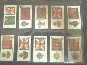 1930  REGIMENTAL STANDARDS CAP BADGES British set 50 cards Tobacco Cigarette