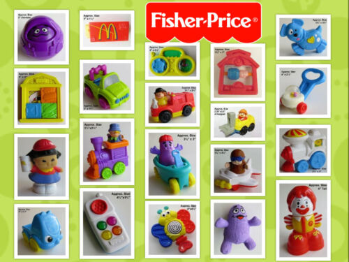 Diff YOUR Toy CHOICE LOOSE UNDER 3 McDonald/'s FISHER PRICE U-3 Toddler FPLP 70