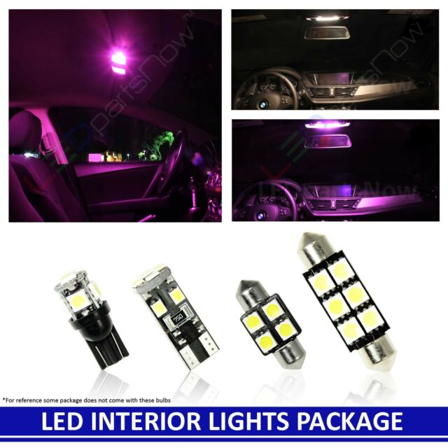 PINK LED Interior Lights Replacement Package Kit For 2014