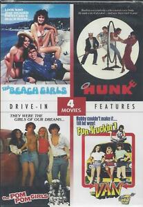 4-DRIVE-IN-MOVIES-THE-BEACH-GIRLS-HUNK-THE-POM-POM-GIRLS-THE-VAN-NEW-DVD