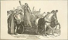 Boadicea Boudicca Horses Ponies Chariot Britons Celts Iceni 7x4 Inch Print