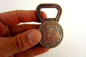 Age-ouvre-bouteille-mondiale-Olympiaturm-Munich-Cuivre-Rare-Piece-de-collection