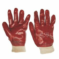 NEW Keep Safe PVC Gloves Red Large