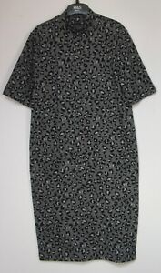 New-Marks-amp-Spencer-Animal-Print-Midi-Shift-Dress-Size-6-18