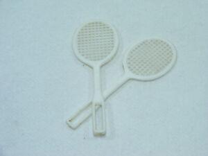 Lot of 2 racquets tennis big jim/g.i. joe/action joe hasbro/mattel 70's vintage
