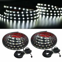 Waterproof 2x 60 Led Truck Bed Light Strips Unloading Cargo Rail Lighting Kit