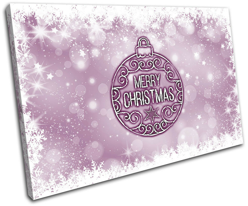 Christmas Decoration Wall Canvas ART Print XMAS Picture Gift Bokeh 04 Violet Chr