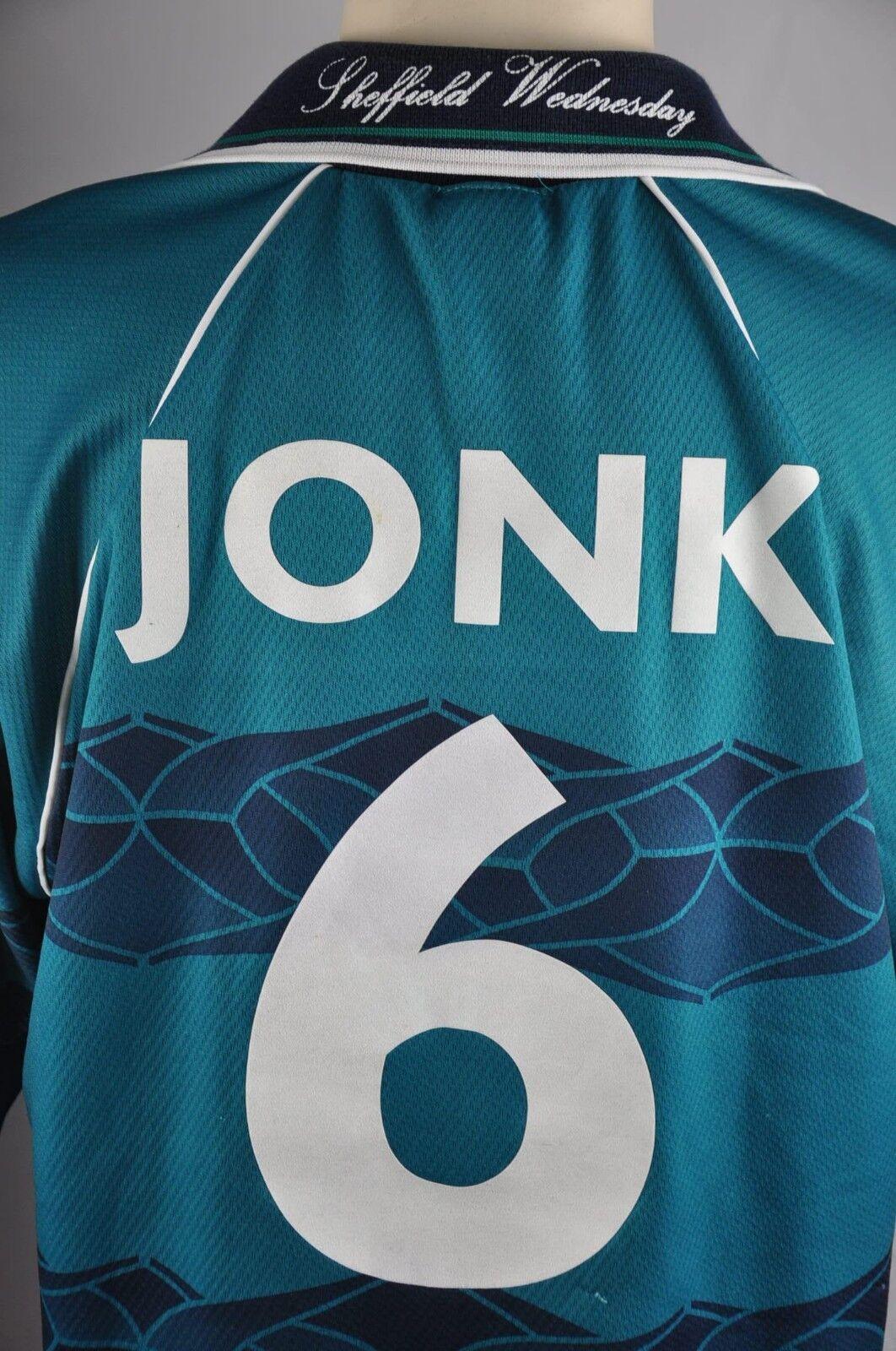 Sheffield Wednesday Trikot Gr. XL XL XL  6 Jonk Away 1995-1997 Sanderson 90s Shirt 6b3e19
