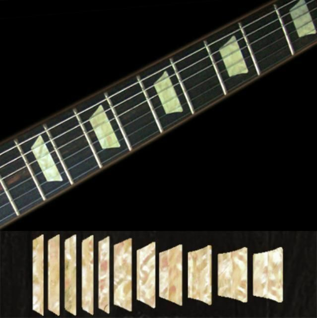 Trapezoid LP Fret Markers Sticker Decal For Guitar//WS