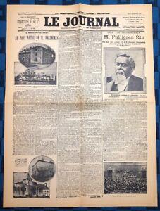 La-Une-Du-Journal-Le-Journal-18-Janvier-1906-Election-D-Armand-Fallieres