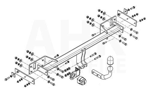Für Mercedes-Benz W176 A-Klasse 12-18 Anhängerkupplung starr+E-Satz 13p spez ABE
