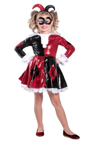 Premium Harley Quinn Child Girls Dress Costume NEW DC Super Friends