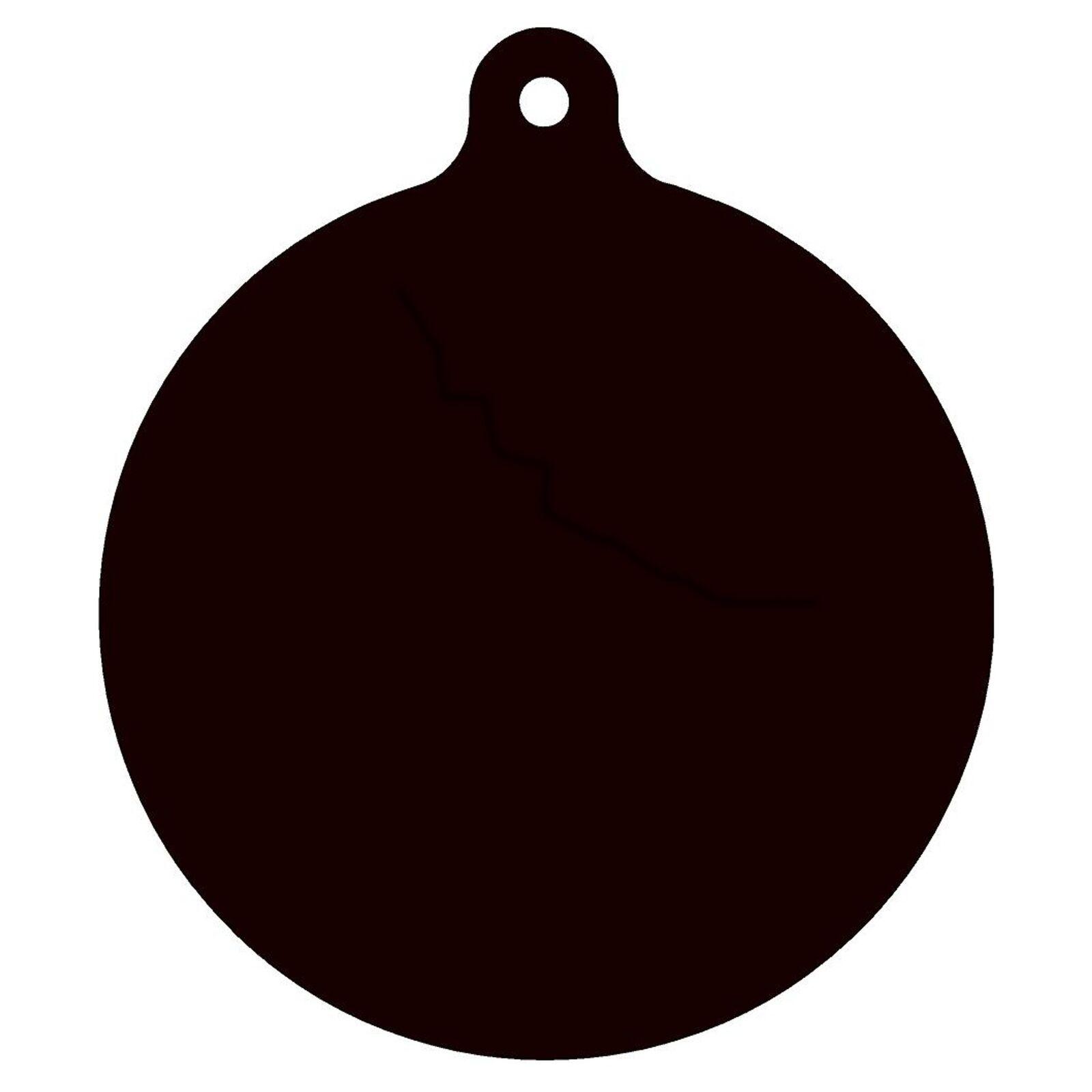 Conjunto de de de 3 AR500 de acero de destino media Gong 1 2  X 8  pintado de negro práctica de disparo b03119