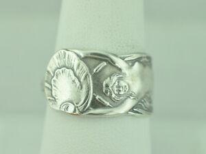 Beautiful-925-Sterling-Silver-Twin-Tailed-Mermaid-Melusine-Spoon-Ring