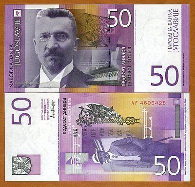 Yugoslavia 50 Dinara, 2000, Pick 155, UNC > The Last Issue