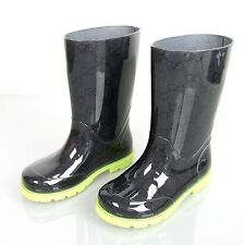 New Authentic Gucci Kids Rain Boot w/GG Print 29/US 12, 257767