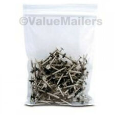 100 10x13 Clear Plastic Zipper Poly Locking Reclosable Bags 2 Mil