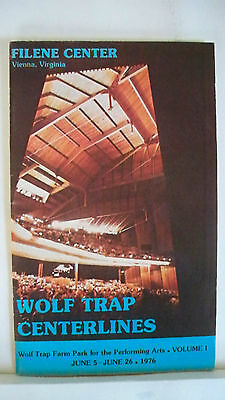 Cooperative Shenandoah Playbill John Cullum Autographed Tour Wolf Trap Va 1976 Shrink-Proof Theater