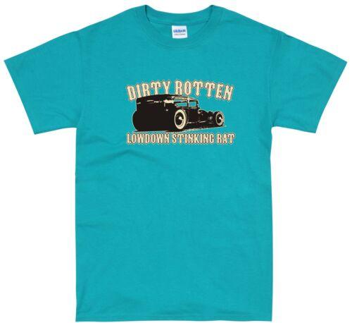 Rat Rod Hot Rod Dragster Retro Rockabilly Vintage Car T Shirt Small 5XL Size