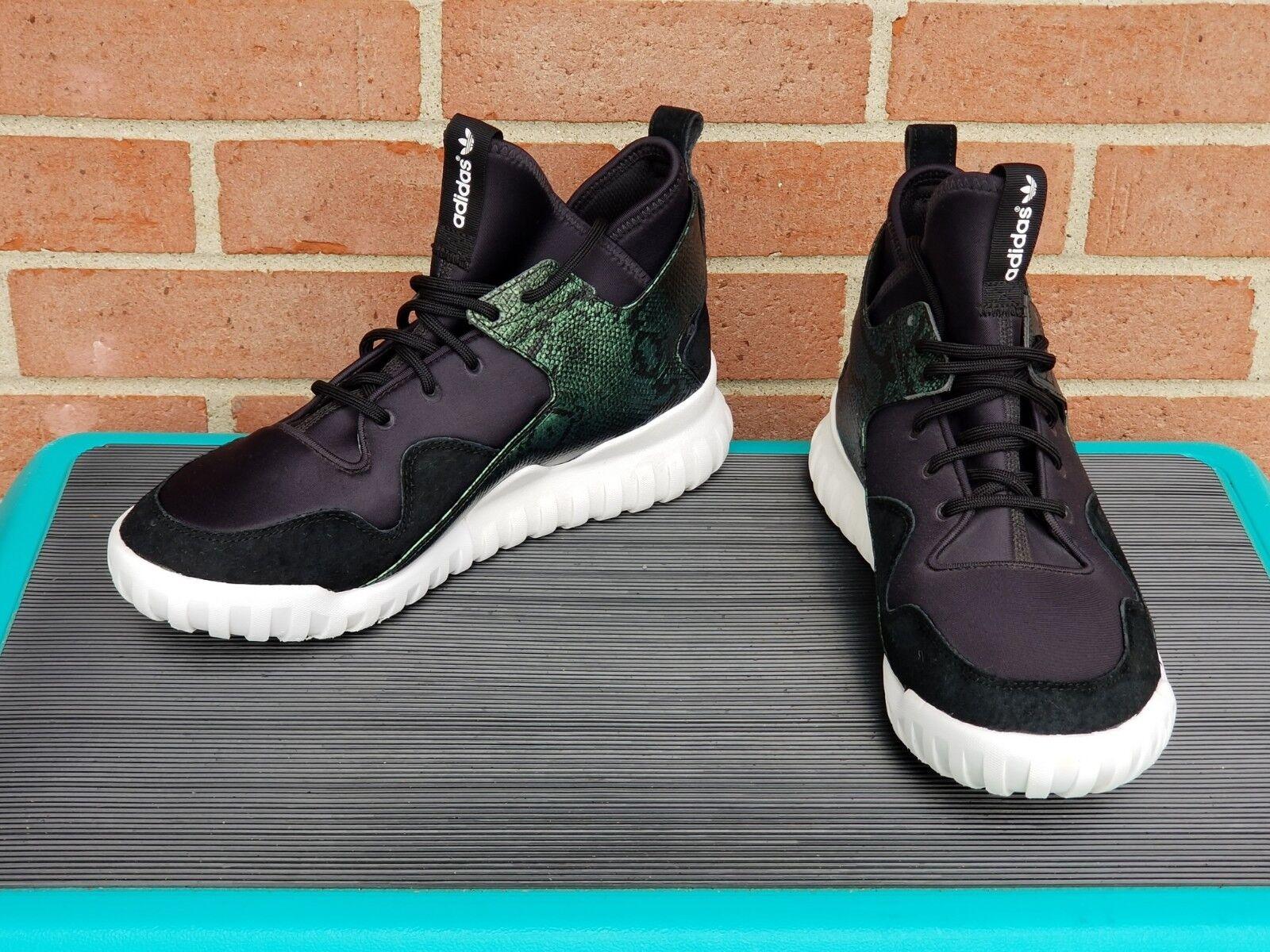 Adidas Originals Men's TUBULAR X Shoes Black/Green Animal Print S31988 Size 10