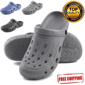 Mens-Clogs-Shoes-Garden-Water-Slip-On-Mule-Sandal-Rubber-Nurse-Outdoor-Classic