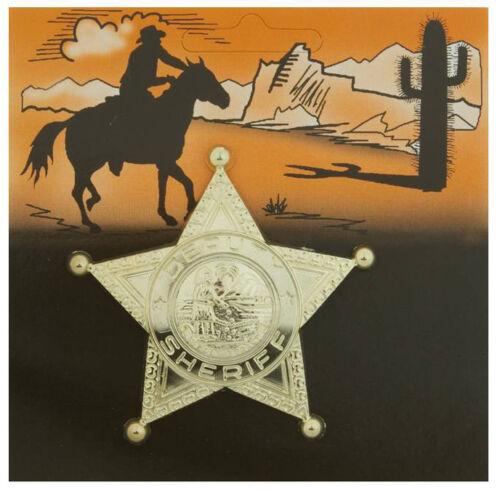 Zubehör Accessoire Karneval Fasching Sheriff Stern gold NEU