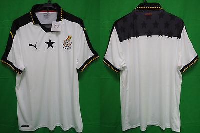 separation shoes 800f8 93cb1 2016-2017 Ghana The Black Stars Jersey Shirt Home Puma FIFA World Cup XXL  BNWT   eBay