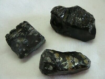 "Gold Sheen Obsidian 3/"" 4-7 Oz AAA Grade Rock Mineral Specimen Lapidary Crystal"