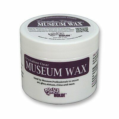 Quake Hold! 2 Oz New Crystalline Clear Museum Wax Free Shipping To Have A Long Historical Standing