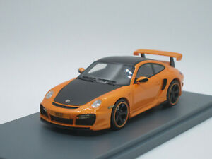 Porsche-911-Turbo-TechArt-GTstreet-GT-street-2011-orange-1-43-NEO-Resin-H36